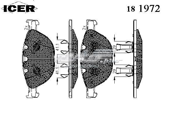 Колодки дисковые передние (181972000300001 тормозные колодки дисковые)