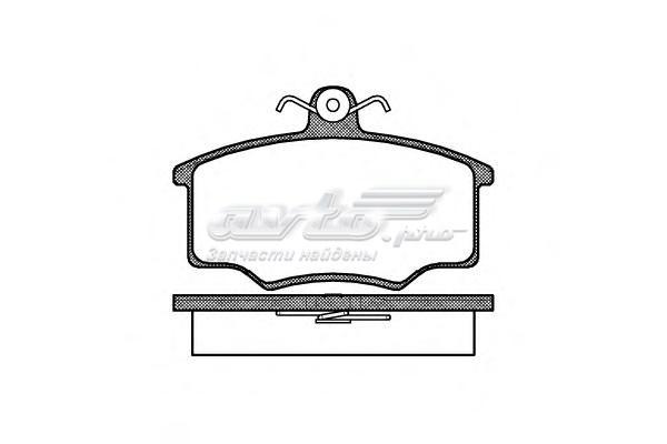 Колодки торм.дисковые (колодки тормозные дисковые, комплект/ /)