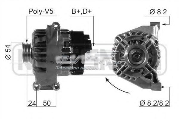Генератор fiat 500/grande punto 105a (210660 генератор\ fiat 500/grande punto 105a)