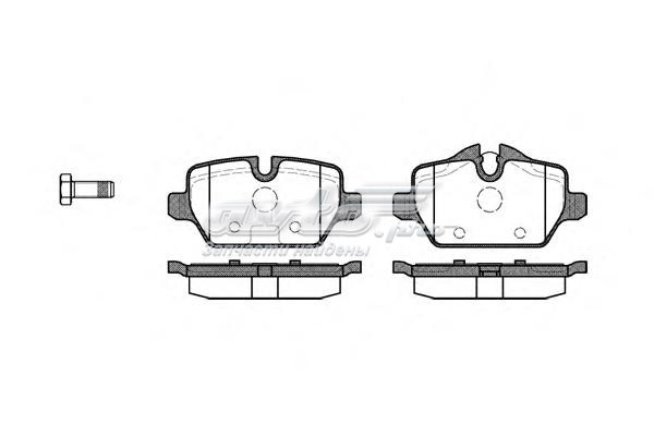 Колодки торм.дисковые bmw 1 (комплект тормозных колодок, дисковый тормоз)