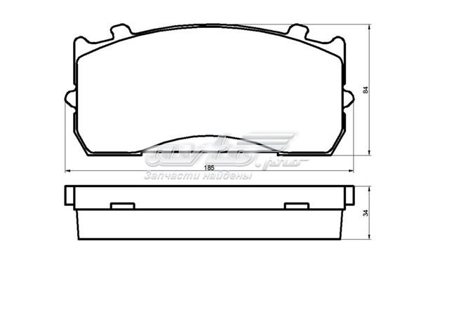 Колодки тормозные дисковые полный комплект газ 3310 валдай (колодки тормозные fr rr полный комплект)