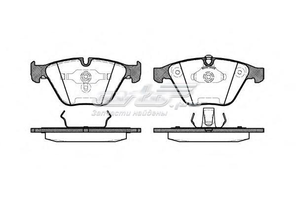 Колодки торм.дисковые (e65) (комплект тормозных колодок, дисковый тормоз)