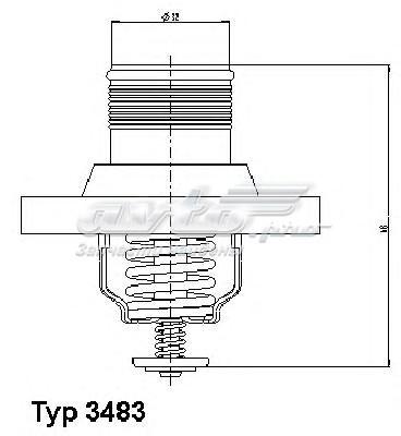 Термостат citroen c4/c5/c8/ 1.8-2.0 /peugeot 206/307/406/407/807 1.8-2.0 99- (термостат, охлаждающая жидкость)