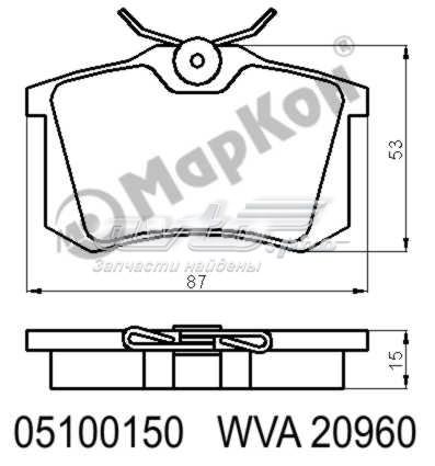 Колодки тормозные дисковые к-т audi  ford  seat  peugeot  volkswagen (колодки тормозные rr без датчика)
