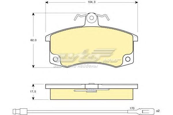 Колодки тормозные ваз 2110/2111/2112 передние с датчиком 6114461 (колодки тормозные дисковые, комплект/ ,/)
