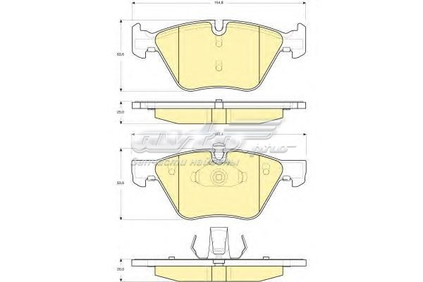 Колодки тормозные bmw e90/e60 1.8-3.0 03- передние (комплект тормозных колодок, дисковый тормоз)