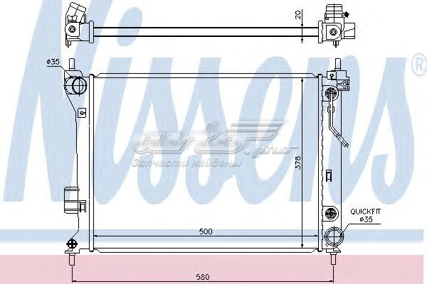 Радиатор системы охлаждения hyundai (радиатор, охлаждение двигателя)