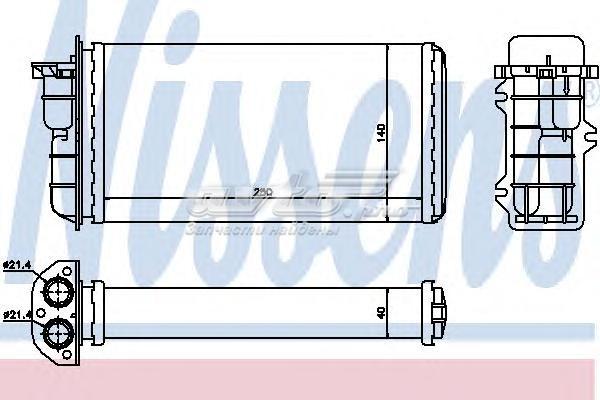 Радиатор отопителя fiat bravo 1.2-2.0 95-01 (теплообменник, отопление салона)