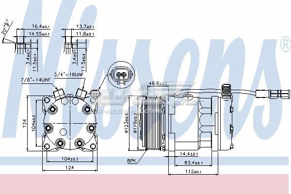 Компрессор man tga 89139 (компрессор кондиционера 89139)