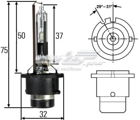 Лампа! xenon (d2r) 35w p32d-3 (лампа накаливания)