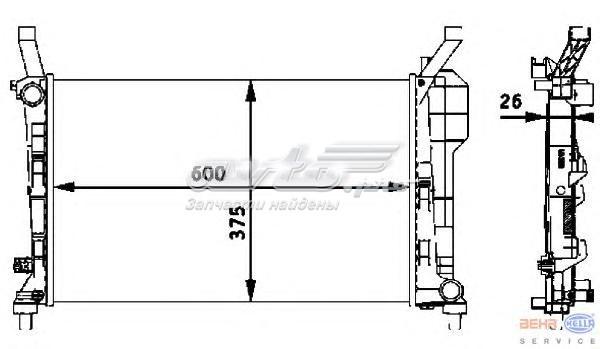 Радиатор системы охлаждения mercedes-benz (радиатор двигателя mb w169 1.5 04-)