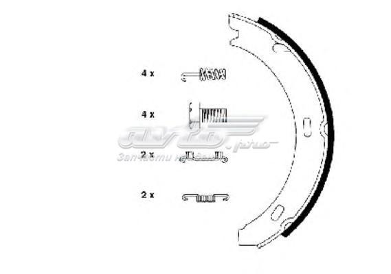Колодки тормозные барабанные компл. 190 (w201) 190 saloon (w201) 190 stufenheck (w201) kombi estate