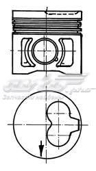 Поршень audi/vw/seat/skoda 1.92.4d mot.1x1yaab d=79.76мм /1.75-2-3/ +0.25 (поршень, комплект)
