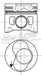 Поршень audi/vw/seat/skoda 1.9d d=80.01мм /1.75-2-3/ 3-4 цил. +0.50 (поршень, комплект 80, 01. 3-4 цил)