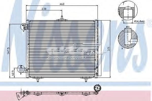 Радиатор кондиционера citroen