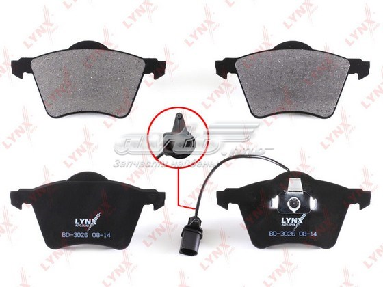 Колодки тормозные пер vw sharan 1.8t-2.0d 95-10, seat alhambra 1.8t-2.8 96-10, ford galaxy 1.9d (колодки тормозные передние, комплект/ bd-3026 vw sharan 1.8t-2.0d 95-10, seat alhambra 1.8t-2.8 96-10, ford gal/)