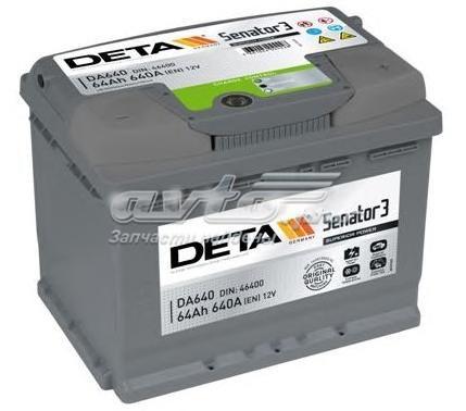 Аккумуляторная батарея 64ah замена - db621. senator3 12 v 64 ah 640 a etn 1(l+) b13 242x175x190mm 16.4kg (аккумулятор deta senator3 12 v 64 ah 640 a etn 1(l)