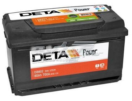 Аккумуляторная батарея 80ah power 12 v 80 ah 700 a etn 0(r+) b13 315x175x175mm 19.5kg (аккумулятор deta power 12 v 80 ah 700 a etn 0(r+))
