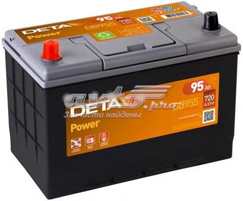 Аккумуляторная батарея 95ah power 12v 95ah 720a etn 1(l+) korean b1 306x173x222mm 23kg (аккумулятор deta power 12v 95ah 720a etn 1(l+) kor)