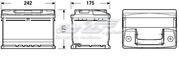 Аккумуляторная батарея 54ah standard 12v 54ah 510a etn 0(r+) b13 242x175x175mm 14.2kg (аккумулятор deta standard 12v 50ah 510a etn 0(r+))