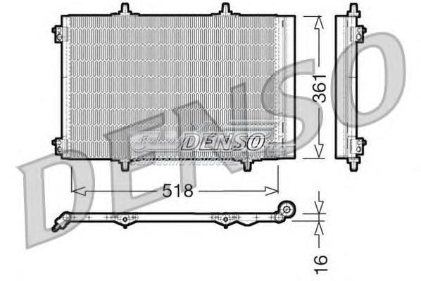 Радиатор кондиционера (dcn07013 радиатор кондиционера)
