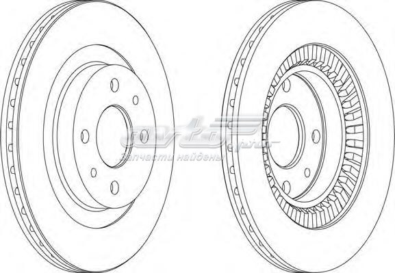 Диск торм. (d=260 мм) lada (диск тормозной передний вентилируемый)