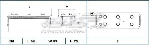 Аккумуляторная батарея 140ah professional 12 v 140 ah 800 a etn 3 b0 513x189x223mm 36.86kg