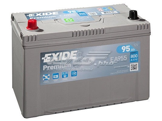 Premium_аккумуляторная батарея! 19.5/17.9 рус 95ah 800a 306/173/222 (батарея аккумуляторная 95а/ч 800а 12в прямая полярн. выносные клеммы)