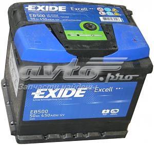 Акб excell 12v 50ah 450a 207x175x190 /-+/ (батарея аккумуляторная 50а/ч 450а 12в обратная полярн. стандартные клеммы)
