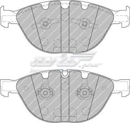 Колодки дисковые п. (комплект тормозных колодок, дисковый тормоз)