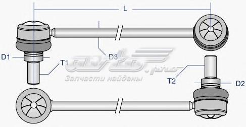 Тяга стабилизатора переднего (тяга / стойка, стабилизатор)