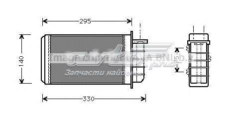 Радиатор отопителя alfa romeo 145  146  fiat brava  bravo  coupe  marea (теплообменник, отопление салона)