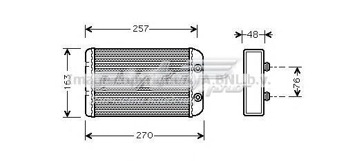 Радиатор печки (радиатор отопителя fiat: bravo 1.4/1.9 d multijet/2.0 d multijet 07-, stilo (192) 1.2 16v (192xa1b)/1.4 16v/1.6 16v/1.6 16v (192xb1a)/1.8 16v (192xc1a)/1.9 d multijet/1)
