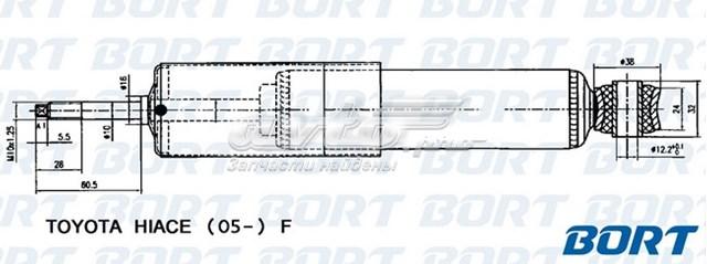 Амортизатор подвески пер газ (амортизатор газомасляный передний toyota hiace 2005-)