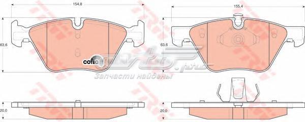 Колодки тормозные bmw e90/e60 1.8-3.0 03- передние (колодки тормозные передние)