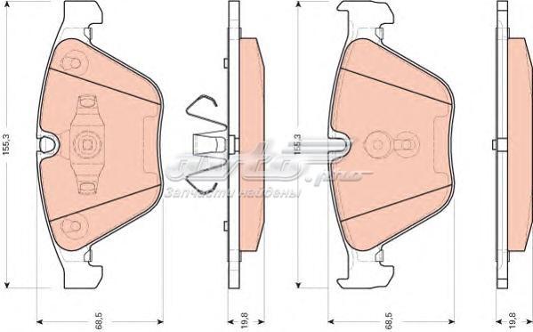 Колодки тормозные дисковые передн bmw (комплект тормозных колодок, дисковый тормоз)