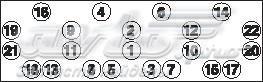 Комплект болтов головки блока fiat-iveco/pegaso-lancia-renault saviem-seat 78->sofim 2445/2499 cc di (комплект болтов головки цилидра)