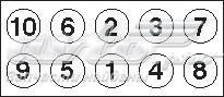 Комплект болтов гбц opel vectra 1.8/2.2 16v 90> (болты гбц, комплект)