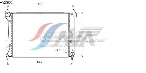 Радиатор системы охлаждения hyundai (радиатор системы охлаждения hyundai: i20 (pb, pbt) 1.4 crdi/1.6 crdi 08-)