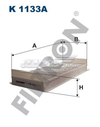 Фильтр салонный угольный k1133a (фильтр салонный m.a.n. seria tg-a 4/00-от  466x170x70mm)