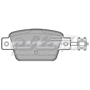 Колодки дисковые задние (дисковые тормозные колодки, комплект)