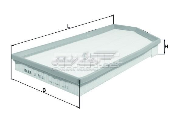 Фильтр воздушный lx3188/11 (фильтр воздушный mb om 654/656 (654 094 0004) mahle)
