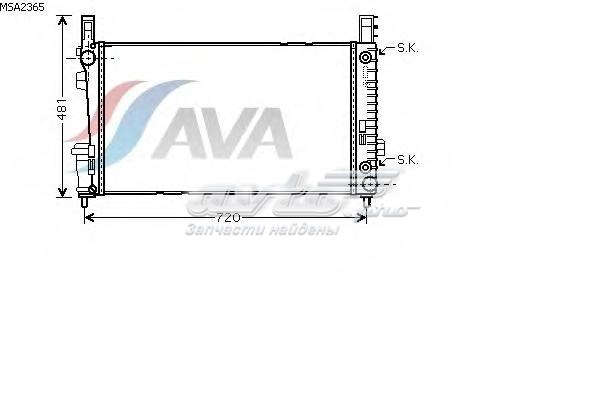 Радиатор системы охлаждения mercedes-benz (радиатор mb w169 1.5/2.0/1.6d/1.7d 04-)