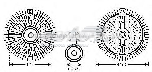 Муфта вентилятора (сцепление, вентилятор радиатора)