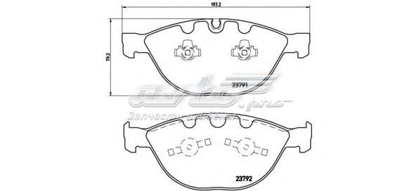 Колодки тормозные дисковые передн, bmw (колодки тормозные дисковые передние, комплект)