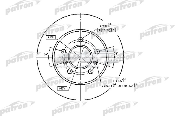 Диск тормозной задн renault (диск тормозной задний renault: laguna 93-01, laguna grandtour 95-01, safrane i 92-96, safrane ii 96-00)