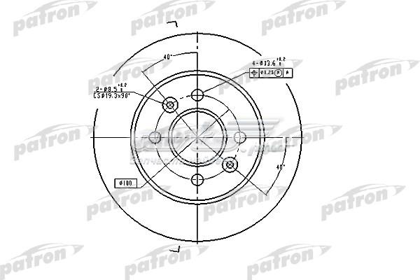 Диск тормозной задн renault (диск тормозной задний renault: laguna 93-01, laguna grandtour 95-01, safrane i 92-96)