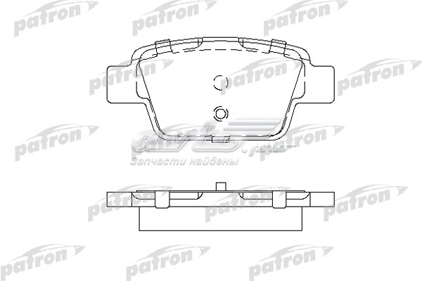 Колодки тормозные дисковые задн fiat (колодки тормозные дисковые задние, комплект/ fiat: bravo 07-, multipla 99-, stilo 01-, stilo multi wagon 03-/)