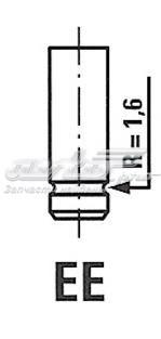 Клапан двигателя fiat 1.6 16v 96- 30.4x7x102 in