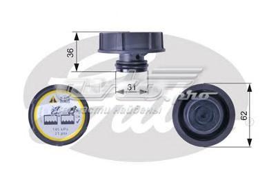 Крышка расширительного бачка (крышка, резервуар охлаждающей жидкости)